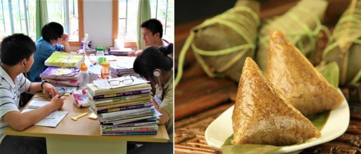 高考生在圖書館溫習/吃糭望高中。(圖:flickr/網圖)