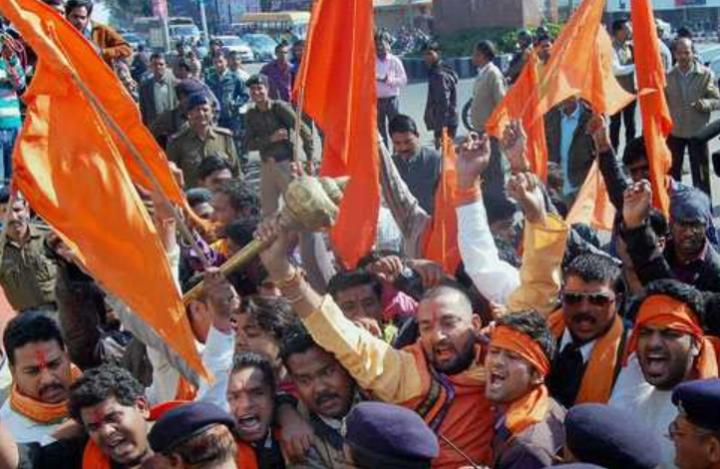 印度民族主義組織激進派別Bajrang Dal支持者。(圖:網絡圖片)