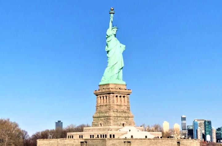 美國自由女神像。(圖:維基百科)