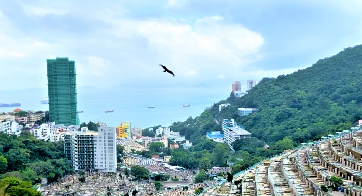 香港教牧網絡公禱會在薄扶林華人基督教墳場直播。(圖:香港教牧網絡視頻擷圖)