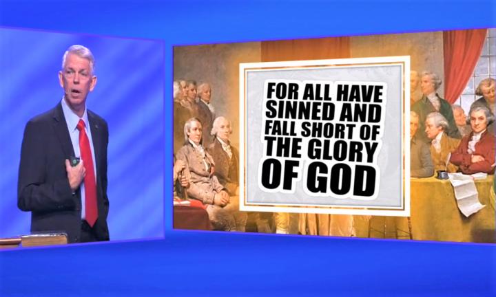 基督教作家戴夫·巴頓分享基督教對美國建國的影響。(圖: First Baptist Dallas facebook)