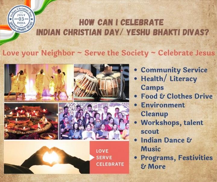 基督教印度日宣傳海報。(圖:Indian Christian Day facebook)