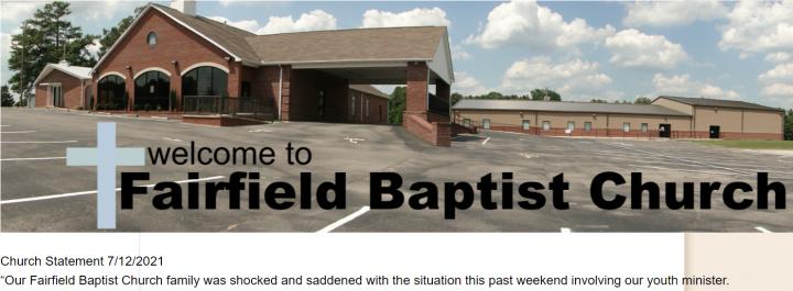 費爾菲爾德浸信會網頁發出聲明,對事件表震驚。