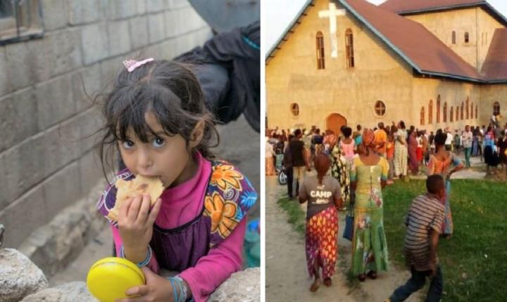 也門兒童、剛果東部貝尼市教堂連環爆炸。(圖:世界糧食計劃署/敞開的門)
