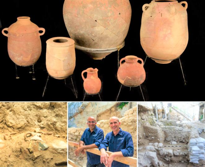 2,800年歷史的碗、燈、炊具。(圖:以色列古物管理局臉書)