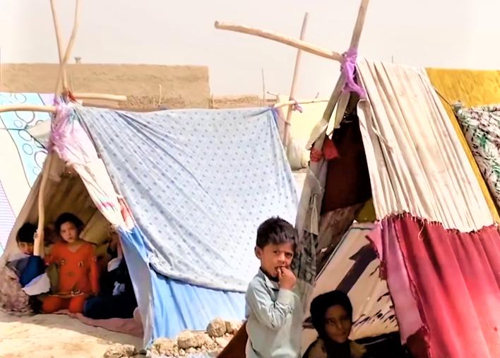 阿富汗北部難民營。(圖:聯合國難民署視頻擷圖)