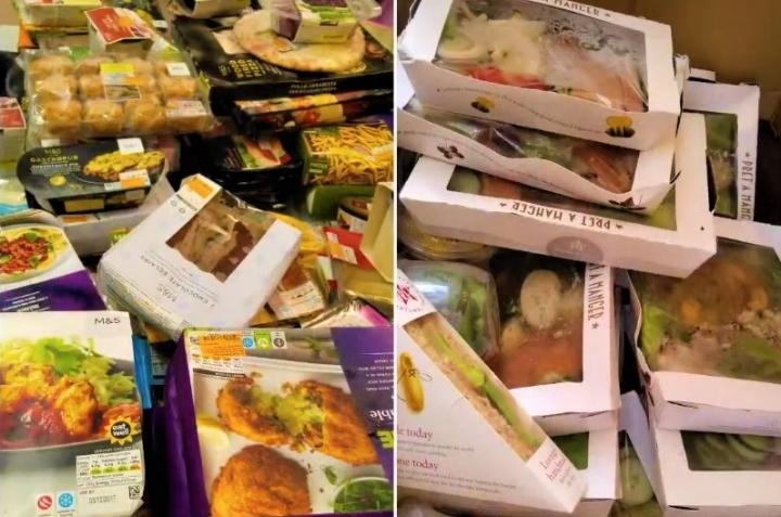 新福食物回收贈基層。(圖:新福視頻擷圖)