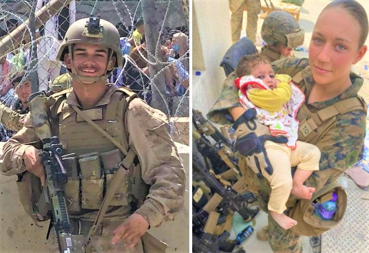 陣亡美國海軍陸戰隊Kareem M. Nikoui/ Greg Laurie。(圖:ig/facebook)