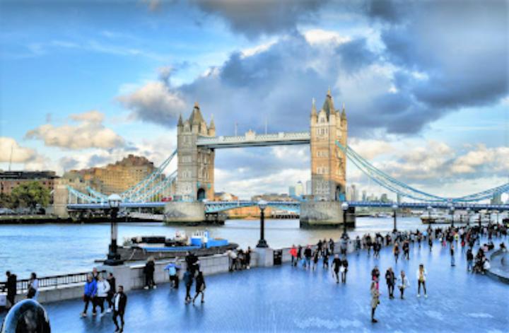 英國倫敦塔橋。(圖:google map)