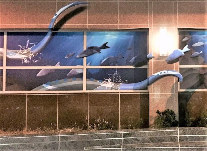 九如鐵道藝廠作品《深海的藝術》。(圖:九如鐵道藝廠臉書)