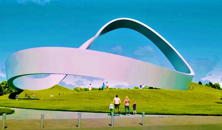 永恆祈禱之牆公共藝術紀念碑推動大眾祈禱。 (圖:官網視頻擷圖)