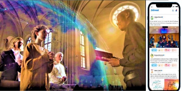 「FaithMeet」擁有海量生活與信仰資訊,適合信徒與一般人士。(組合圖)