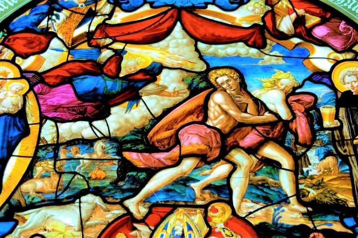畫像描述亞當夏娃犯罪後被神的使者追捕。(圖:FreeImage)