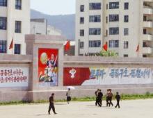 北韓領袖金日成的畫像隨處可見。﹙圖:施達呼聲﹚ <br/>