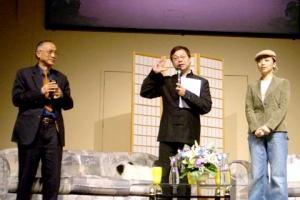 林以諾牧師、陳耀南教授和鄧萃雯加拿大巡迴佈道。(圖:Network J) <br/>