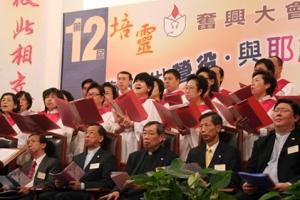 第12屆培靈奮興大會第一場「地動山搖,審判降臨」於11月1日7時30分正式舉行。圖為循道衛理聯合教會詩班獻唱。  <br/>