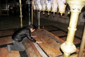 聖墓堂是安放耶穌屍首的地方。(圖:影音使團)  <br/>