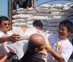 7月底,宣明會在貴州省望謨縣發放182,715公斤大米。 <br/>