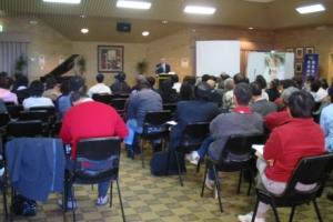 黃彼得牧師對宣教士,一批作好準備的神的工人作出最後的訓勉。 <br/>