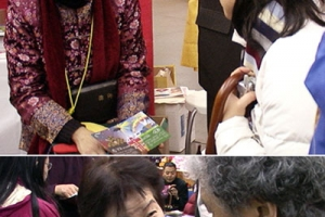 溫哥華華人基督教短期傳道培訓中心大約100民志願者上街和來訪者交談 <br/>