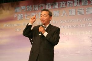 蔡醫生以「普世華人教會使命更新」為題,勉勵華人教會要洞察這個年代,更新我們的使命。 <br/>