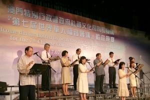 「無名的傳道者」的誦詞,訴說了很多宣教士的感人故事。(圖:本報記者) <br/>