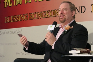 剛剛出席完第七屆華福會的華牧師從澳門趕來香港,參與「祝福香港送書行動啓動禮」。(圖:基督新報/ Hudson Tsuei <br/>