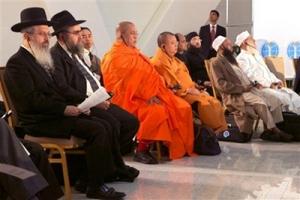 43名屬靈領袖出席了第二屆世界宗教領袖大會(圖:AP) <br/>